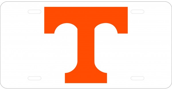 University of Tennessee License Plate