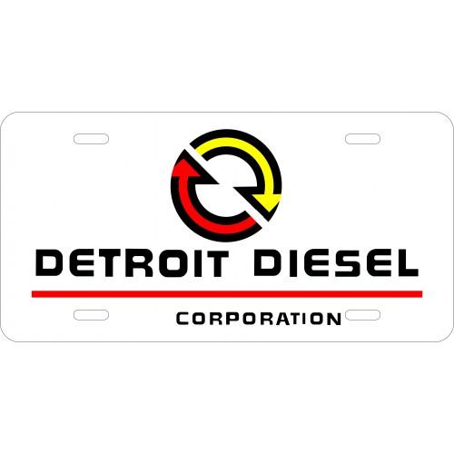 Detroit Diesel License Plate